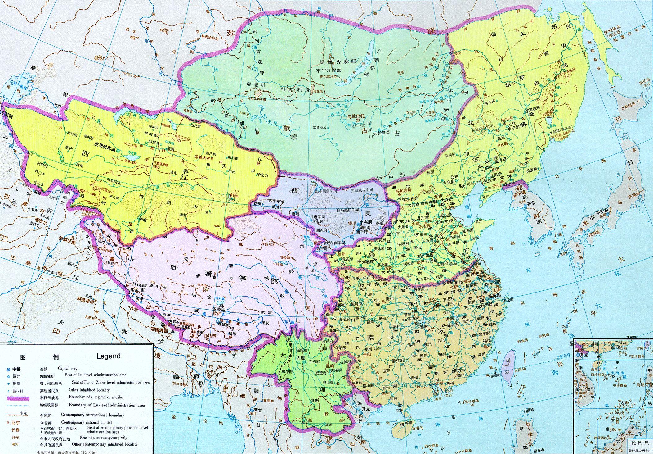历史工具->中国历代疆域图图(一)